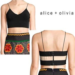 ALICE & OLIVIA Bali Fitted Crop Top Fabulous!